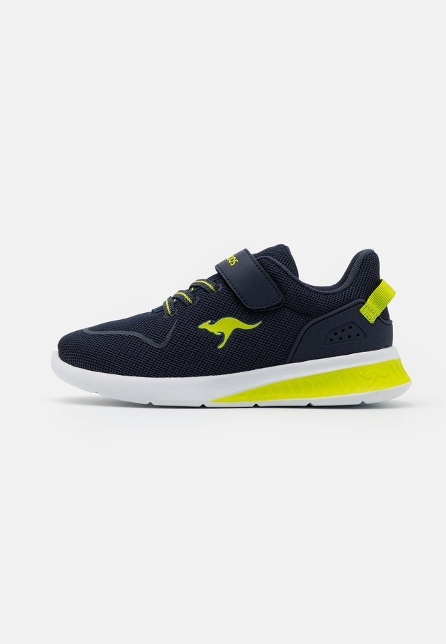 BARE  - Sneakers laag - dark navy/lime