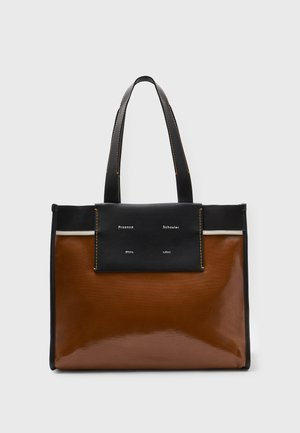 XL COATED CANVAS TOTE - Shopping bag - tobacco