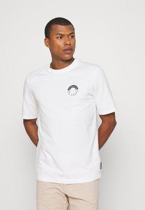 LOGO CREWNECK TEE - Print T-shirt - ecru melange