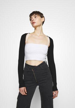 AINA BOLERO - Vest - black dark