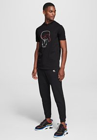 KARL LAGERFELD - IKONIK OUTLINE  - Print T-shirt - black - 1