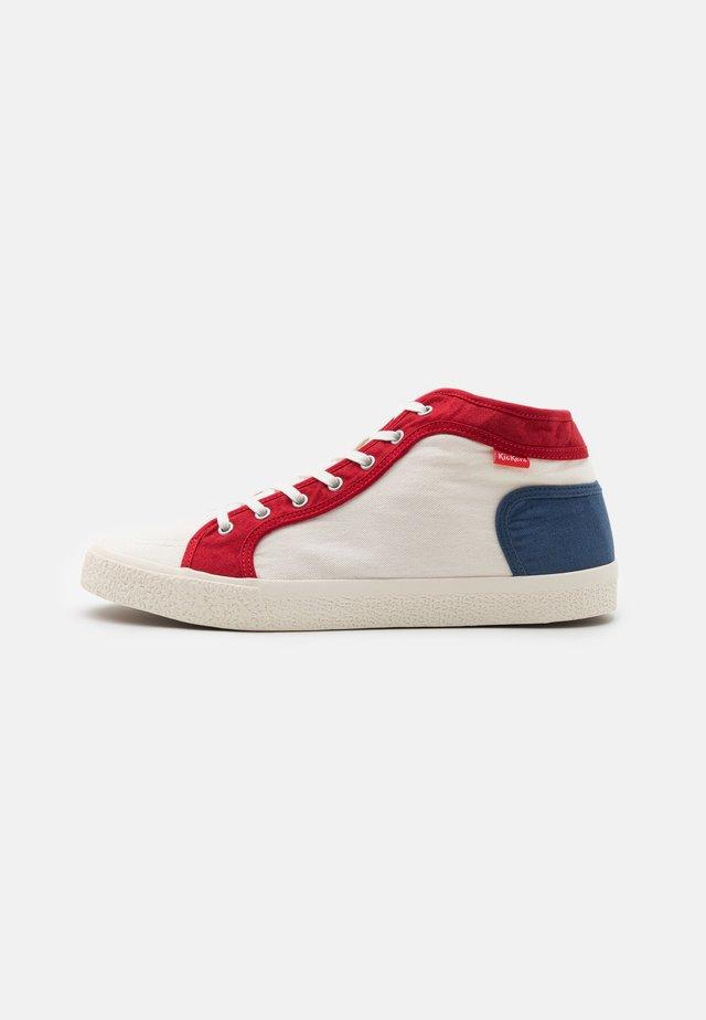 ARVEILER - High-top trainers - blanc/bleu/rouge