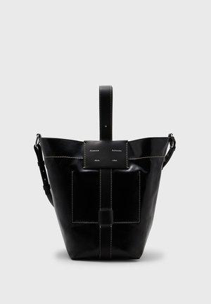 COATED CANVAS BUCKET BAG - Bolso shopping - black