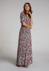 Oui - Maxi dress - turquoise/red - 1