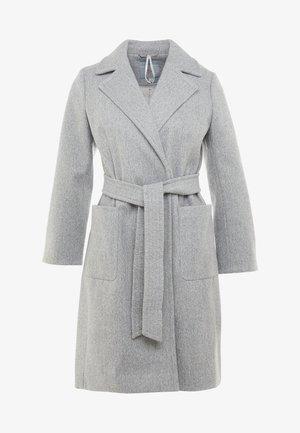 PATCH POCKET WRAP COAT - Zimní kabát - grey