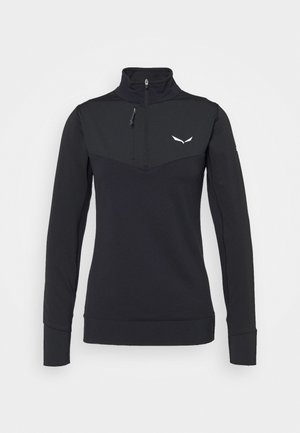ORTLES DRY ZIP TEE - Funktionstrøjer - black out