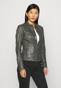 Gipsy - NOLA LAGA - Leather jacket - grey - 3