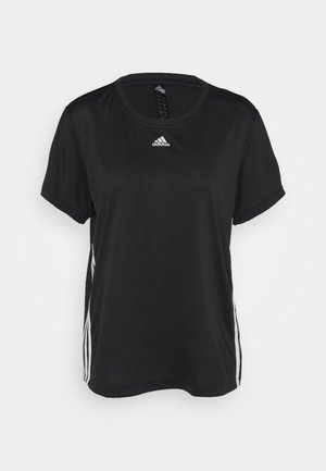 3 STRIPE TEE - Camiseta básica - black/white