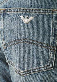 Emporio Armani - POCKETS PANT - Straight leg jeans - denim blu - 2