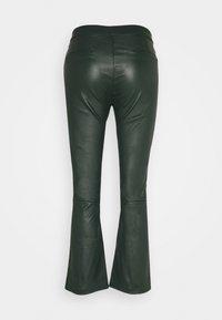 Ibana - Kožené kalhoty - dark green - 1
