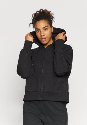 CROPPED HOODIE - Zip-up hoodie - black