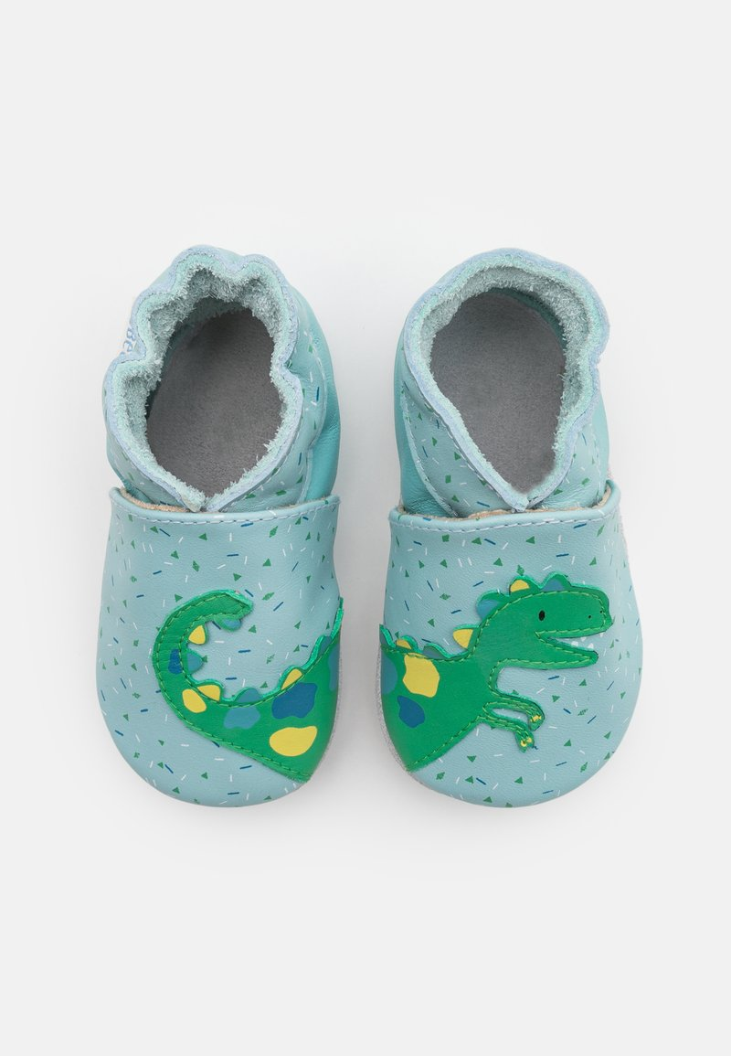 Robeez - SMILING DINO - First shoes - bleu clair