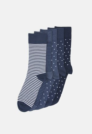 5 PACK - Strumpor - dark blue/mottled blue/dark grey