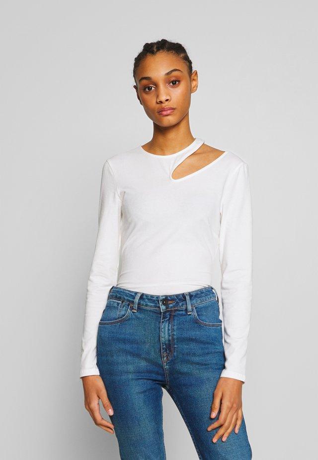 CUT OUT - T-shirt à manches longues - white