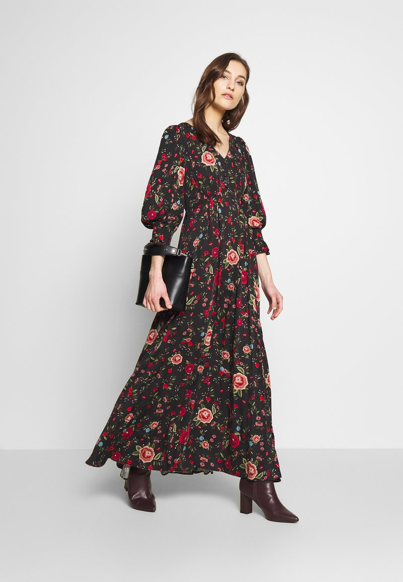 NAF NAF - SENORITA - Robe longue - senorita noir