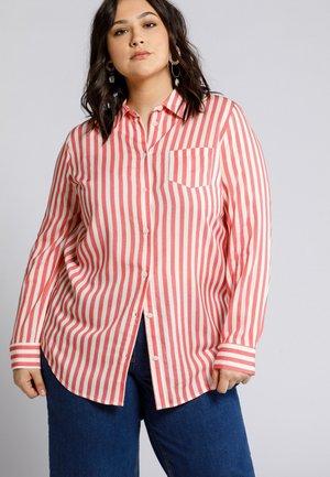 Button-down blouse - flamant rose