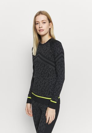 BETTY SKI BASE  - Long sleeved top - grey animal