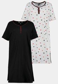 Ulla Popken - 2 PACK - Pyjama top - zwart - 5