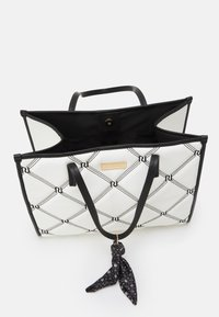 River Island - PADDED EMBROIDERED - Tote bag - white - 2
