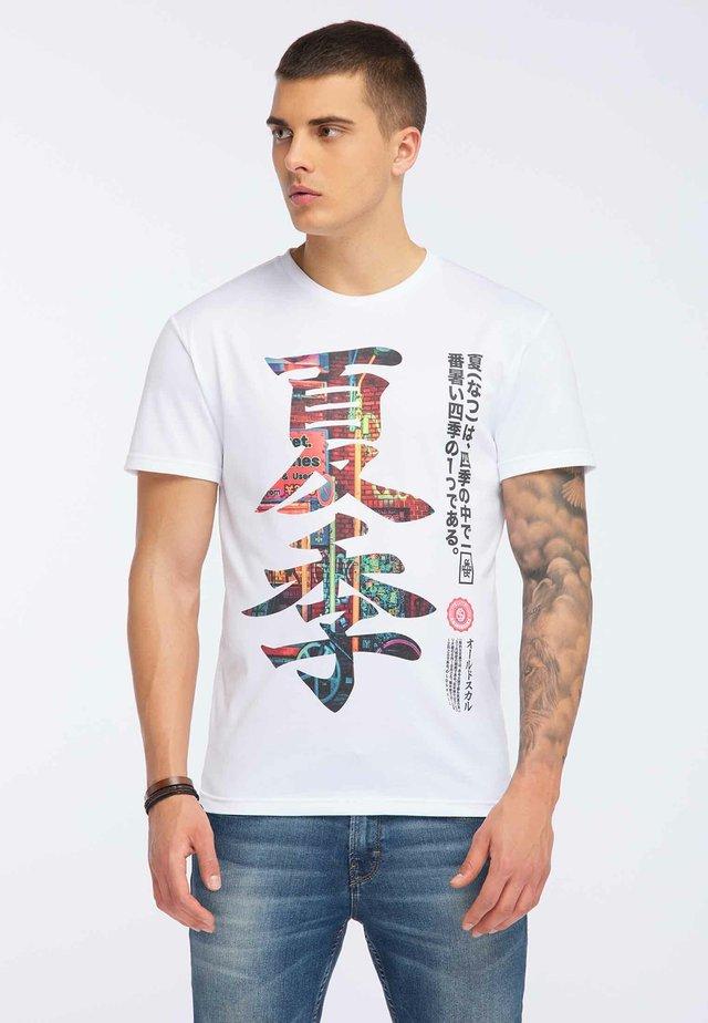 OLDSKULL T-SHIRT PRINT - T-shirt print - white