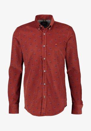CORD MIT ALLOVERPRINT - Overhemd - burnt red
