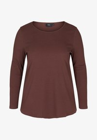 Zizzi - Long sleeved top - brown - 1