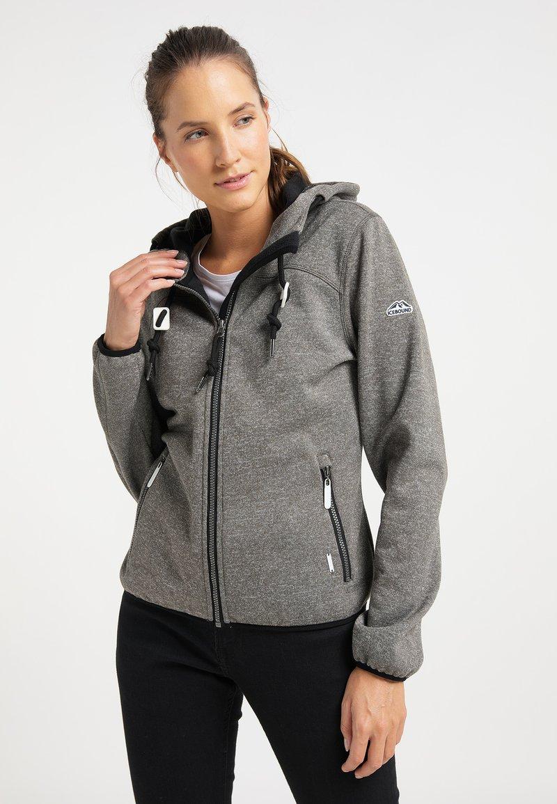 ICEBOUND - Fleece jacket - grau melange