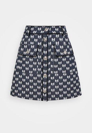 JONALA - Mini skirt - nœuds marine