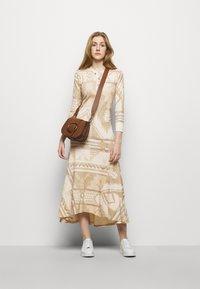 Polo Ralph Lauren - NOVELTY TEXTURE - Jumper dress - beige/multicoloured - 1