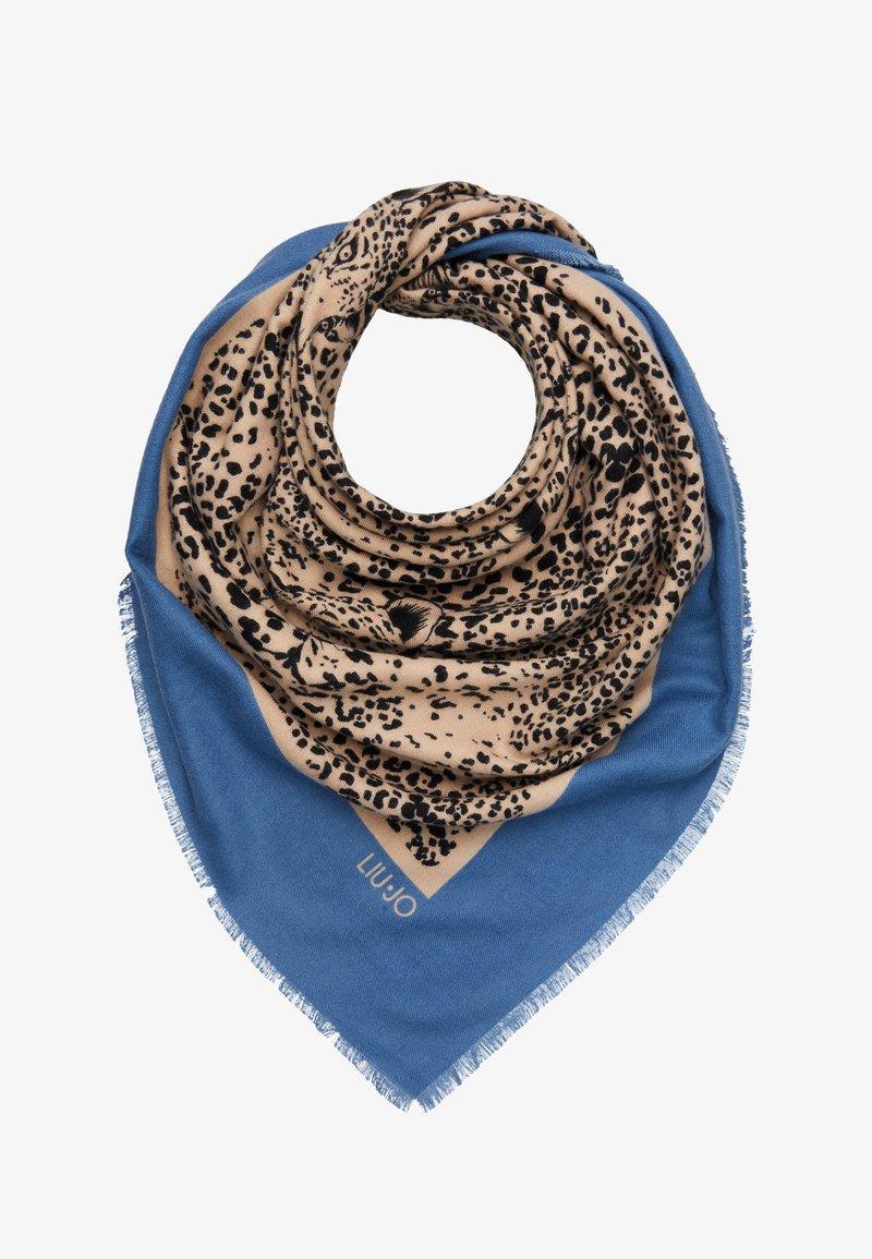 LIU JO - FOULARD GARZATO PENOMBRE MACULA COLO - Tuch - blue/beige