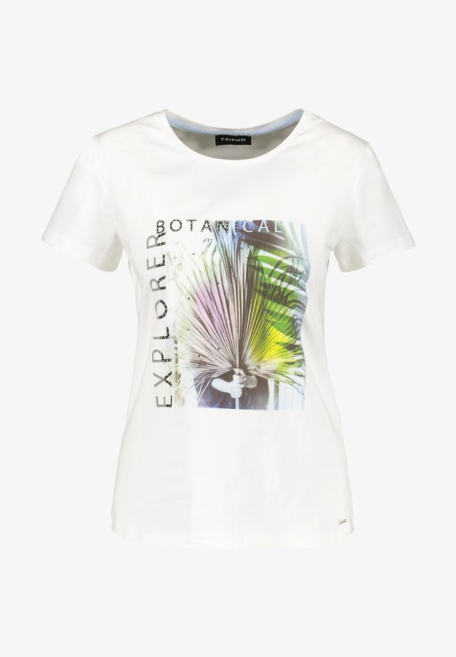 T-shirt imprimé - offwhite gemustert