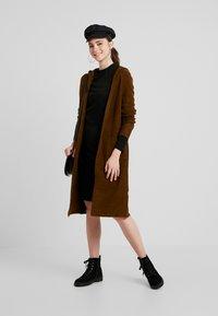 Urban Classics - LADIES PEACHED DRESS - Shift dress - black - 1
