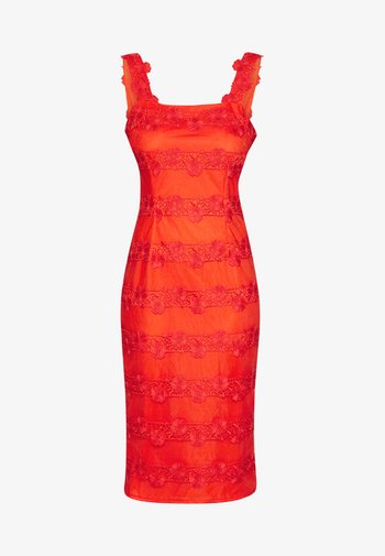 Koktejlové šaty/ šaty na párty - red