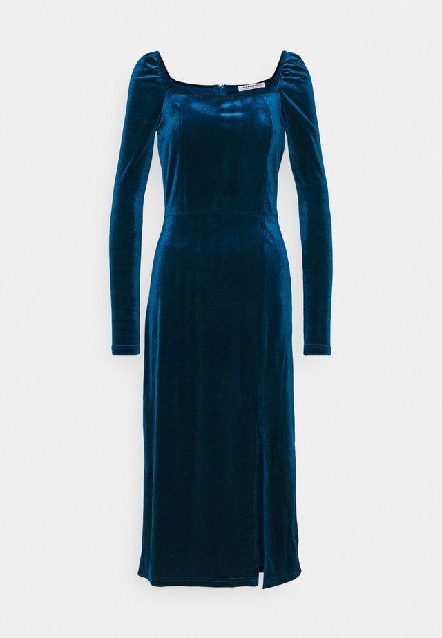 Korte jurk - dark blue velvet