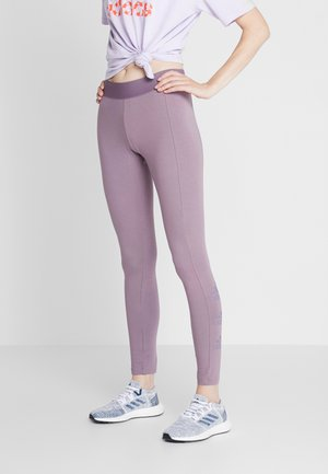 ESSENTIALS SPORT INSPIRED COTTON LEGGINGS - Leggings - purple