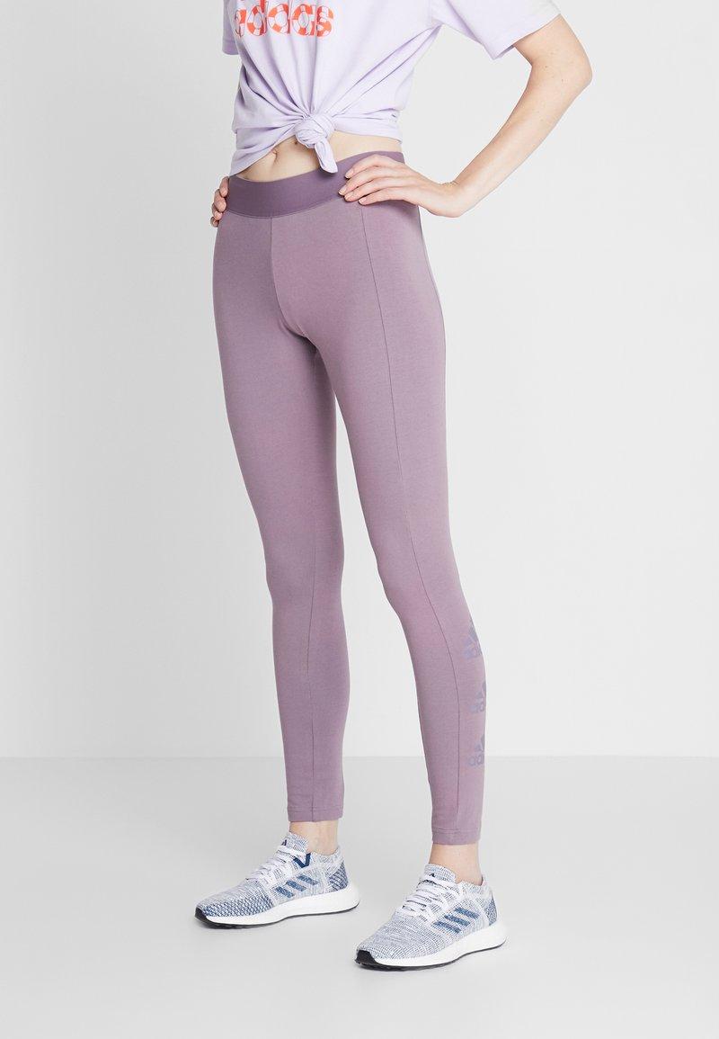 adidas Performance - ESSENTIALS SPORT INSPIRED COTTON LEGGINGS - Medias - purple