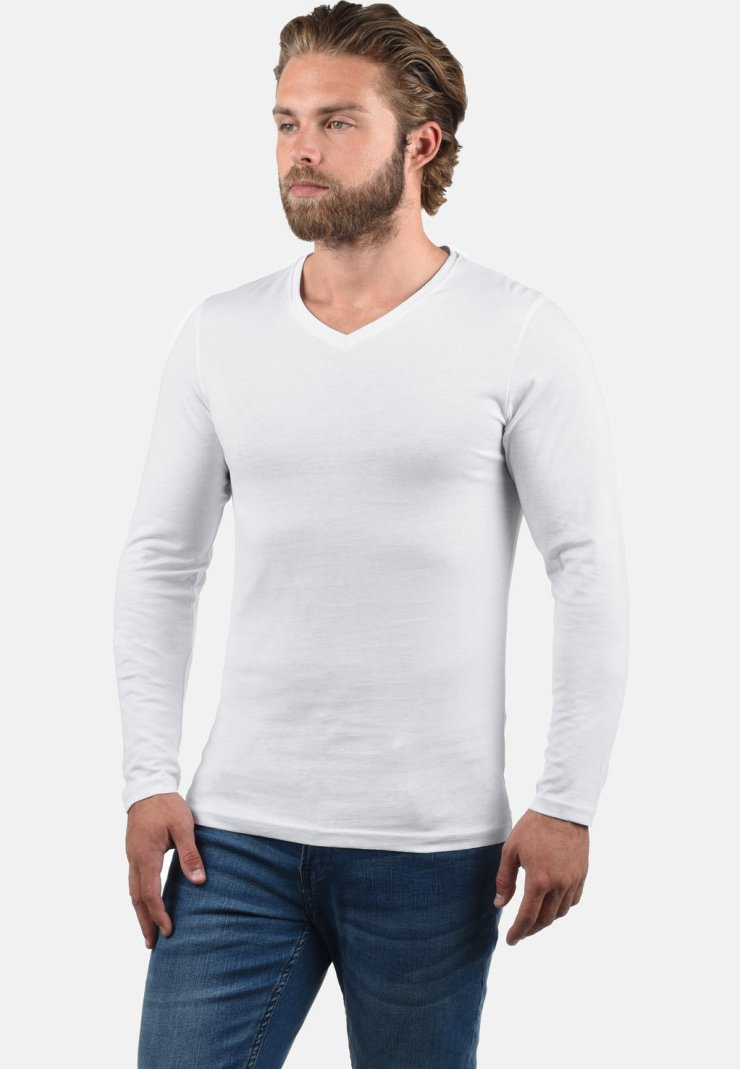 Solid - 2PER PACK - Maglietta a manica lunga - white