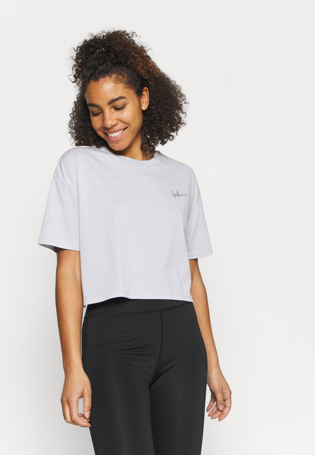 RELAXED ACTIVE - T-shirt con stampa - grey marle/balance