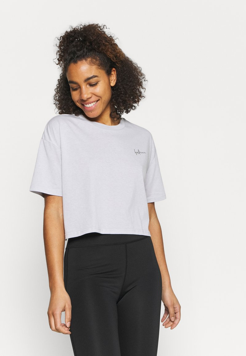 Cotton On Body - RELAXED ACTIVE - Print T-shirt - grey marle/balance