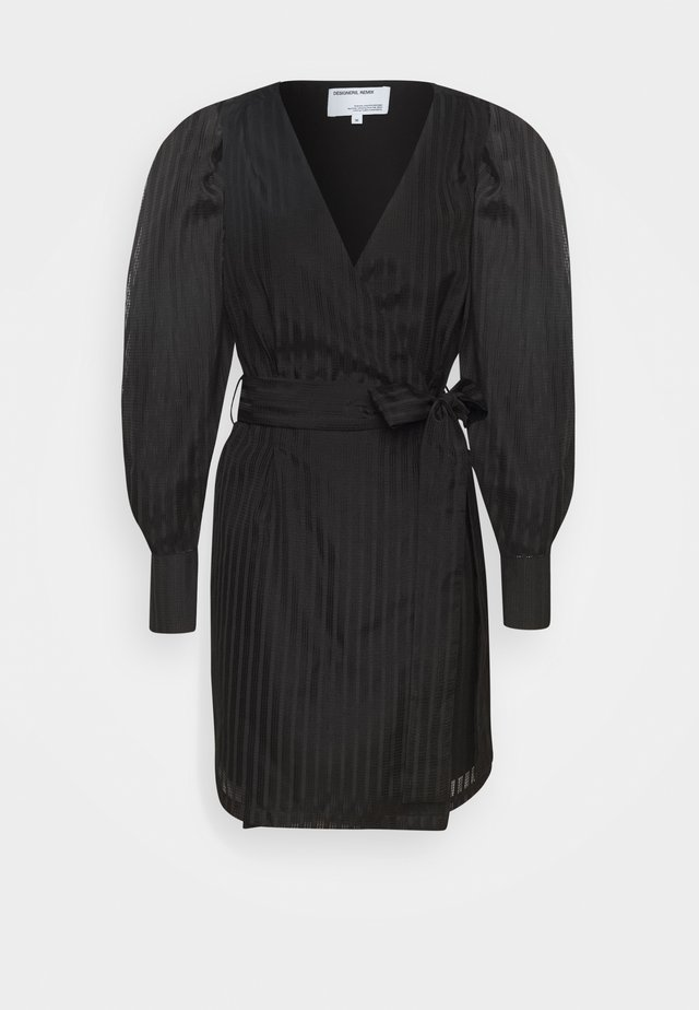 LIVA WRAP DRESS - Sukienka koktajlowa - black