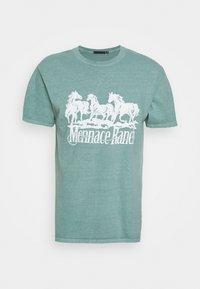 ROSEBOWL RANCH REGULAR  - Print T-shirt - light blue