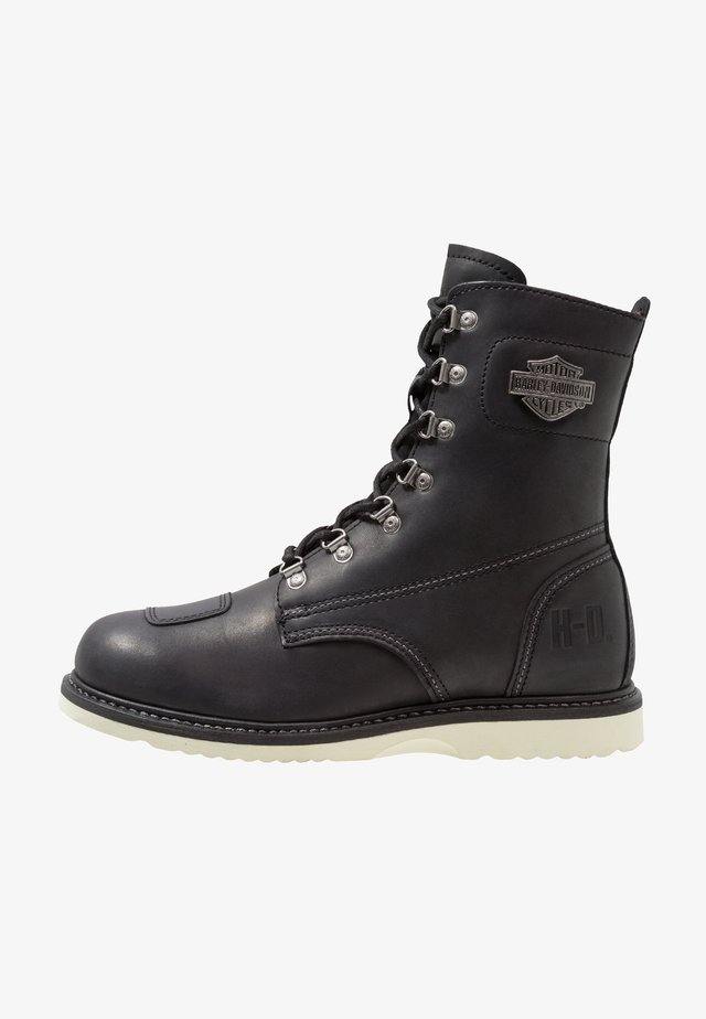 LOTTMAN - Cowboy/biker ankle boot - black