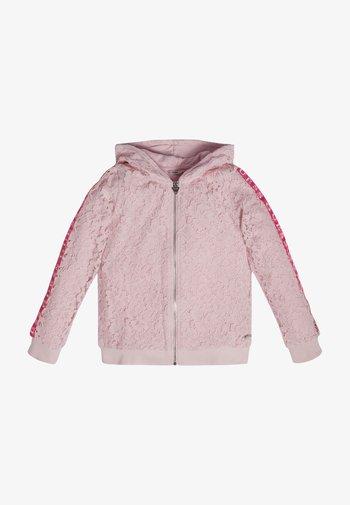 Sweat à capuche zippé - rose