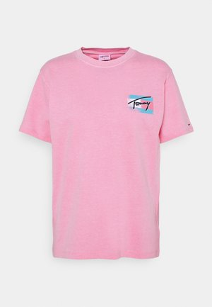RELAXED PAINTED FLAG TEE - Camiseta estampada - pink daisy