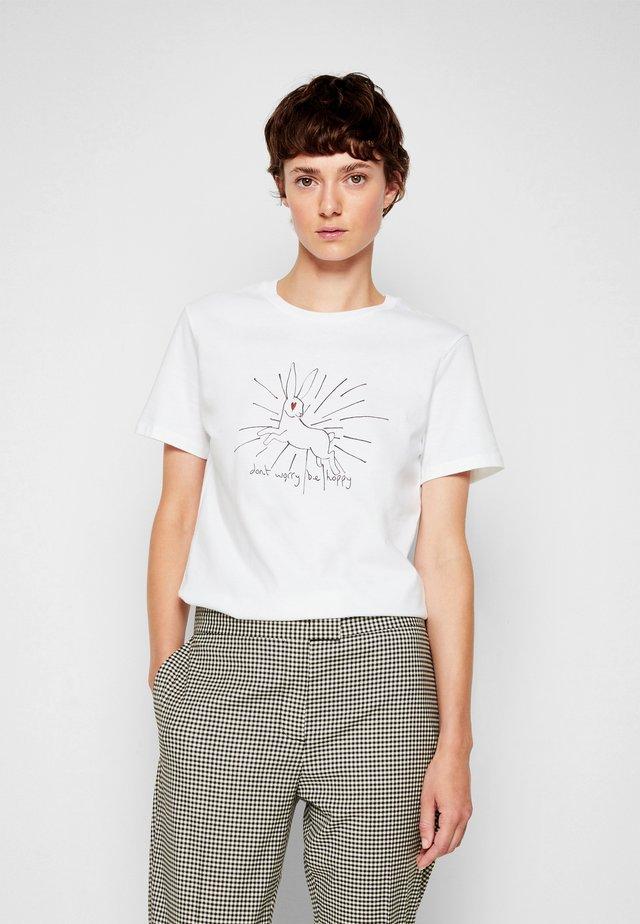 BE HOPPY - T-shirt con stampa - white