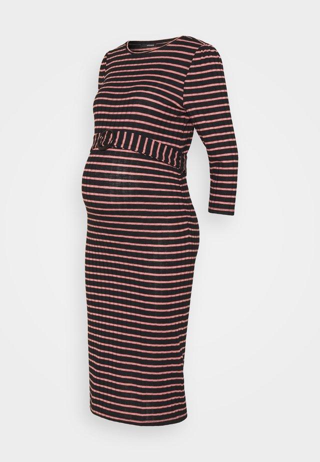 DRESS STRIPE - Robe longue - rosette