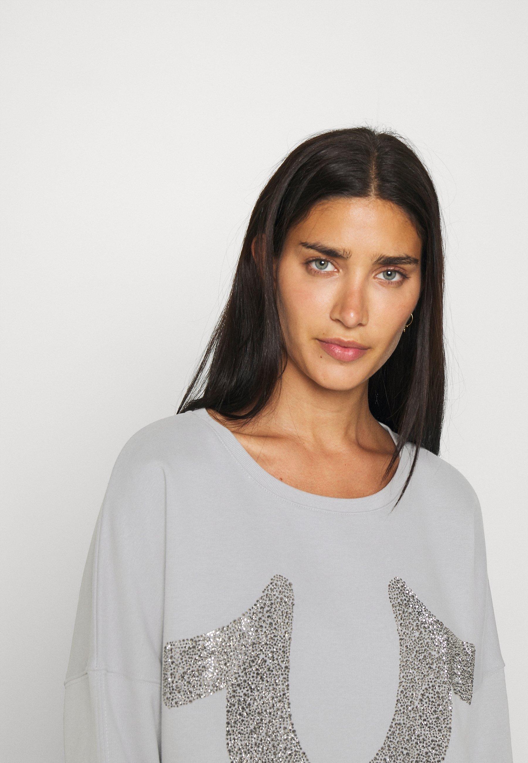 Damen BOXY CREW NECK HORSESHOE - Sweatshirt