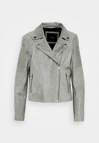 YAS - YASMOUSSE JACKET - Leather jacket - shadow - 4