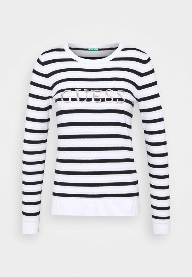 ZOE  - Pullover - white black / lure