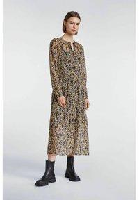 SET - Shirt dress - apricot black - 1